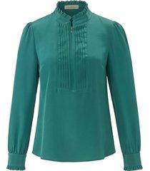 blouse van 100% zijde met lange mouwen van uta raasch groen