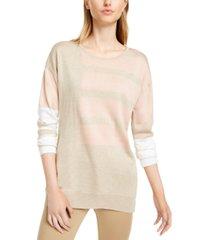 calvin klein colorblocked crewneck sweater