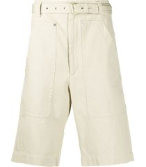 isabel marant belted bermuda shorts - neutrals