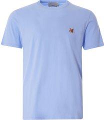 maison kitsune varsity fox classic t-shirt | light blue | 115kj001-lbl