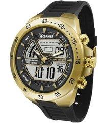 relógio masculino x-games anadigi xmspa021 bxpx do