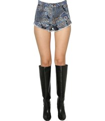 etro denim shorts