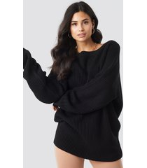 iva nikolina x na-kd oversized knitted sweater - black