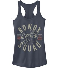 disney pixar juniors' toy story 4 rowdy squad ideal racerback tank top