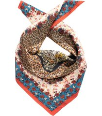 vince camuto floral patch silk square scarf