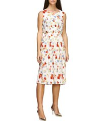 ermanno scervino dress ermanno scervino silk dress with floral print