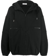 givenchy vintage oversized zipped hoodie - black