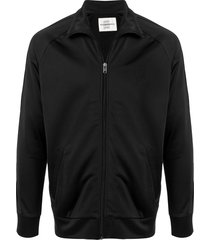 kent & curwen full zip sweater - black
