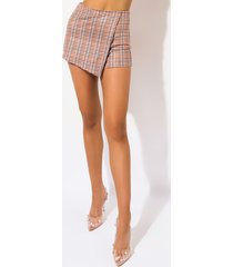 akira so cute small houndstooth skort