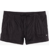 womens truly elastic for you mid-rise shorts - black