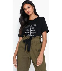river island ss list wordy tee t-shirts