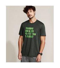 "camiseta masculina esportiva ace training"" manga curta gola careca verde militar"""