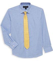 boy's & little boy's 2-piece sport shirt & matching tie set