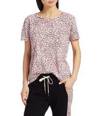 n:philanthropy women's harlow bff leopard t-shirt - blossom leopard - size m