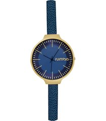 midnight blue orchard leather watch