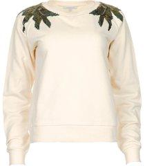 sweater met pailletten felpa  wit