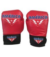 luva de boxe américa vermelha .