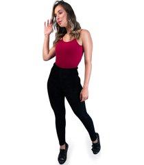calça legging mvb modas veludo cotelê cintura alta preta