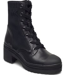 brea bootie shoes boots ankle boots ankle boot - heel svart michael kors shoes
