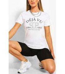 deja vu printed t-shirt, white