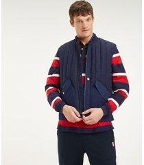 tommy hilfiger men's flex quilted vest maritime blue - xs