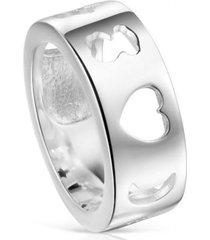 anillo glory de plata plateado tous