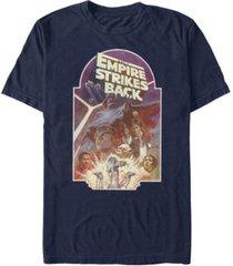 fifth sun men's star wars empire strikes back classic poster short sleeve t-shirt