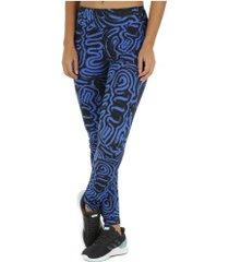 calça legging oxer mex - feminina - azul/preto