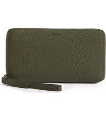 women's allsaints fetch leather phone wristlet - green