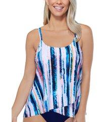 island escape isla printed capetown underwire tankini, created for macy's women's swimsuit