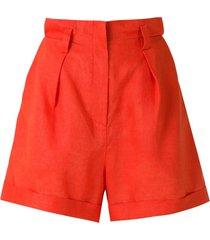 andrea marques pleated cochard shorts - orange