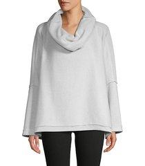 cowlneck pullover sweatshirt
