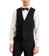 inc men's slim-fit black solid suit vest, created for macy's