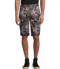 buffalo david bitton men's howan camo bermuda shorts - midnight blue - size 33
