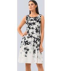 jurk alba moda offwhite::grijs::zwart