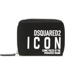 dsquared2 icon logo zip around wallet