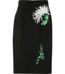 nº21 floral print pencil dress - black