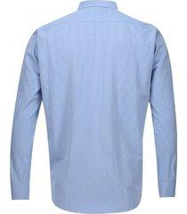 camisa manga larga unicolor color azul, talla xs