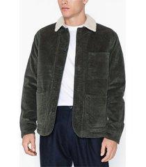 selected homme slhjackson corduroy teddy jacket w jackor mörk brun