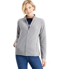 karen scott fleece jacket, created for macy's
