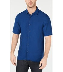 a6247ea27c71 alfani men's lagoon linen blend shirt, created for macy's
