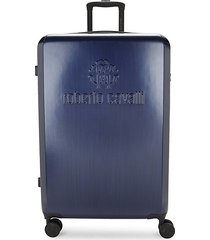 classic logo woodlook 28-inch expandable suitcase