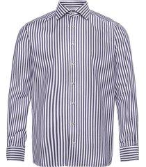 contemporary fit bengal stripe signature twill shirt skjorta business blå eton