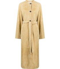 loewe belted midi coat - neutrals