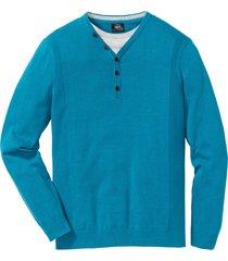 maglione effetto 2 in 1 (blu) - bpc bonprix collection