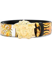 versace medusa barocco femme print belt - black
