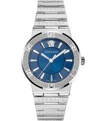 women's versace greca logo bracelet watch, 38mm