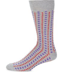 striped dot-print crew socks