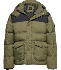puffer jacket fodrad jacka grön lee jeans