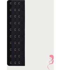 op en top zwanger beha / corset verlenger 10 haaks zwart (per stuk)